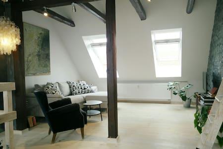 Bright, large penthouse loft with private entrance - København - Apartment