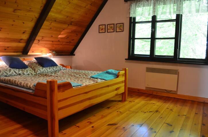 Sypialnia z wewnętrzną  łazienką, łóżko szer. 180cm