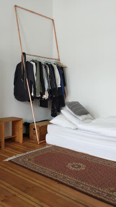 sleeping/ two matresses for single or double bed option