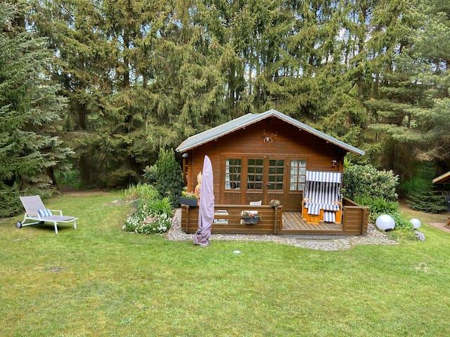 Blockhütte Papendorf - Ostseenähe, Badesee, Natur