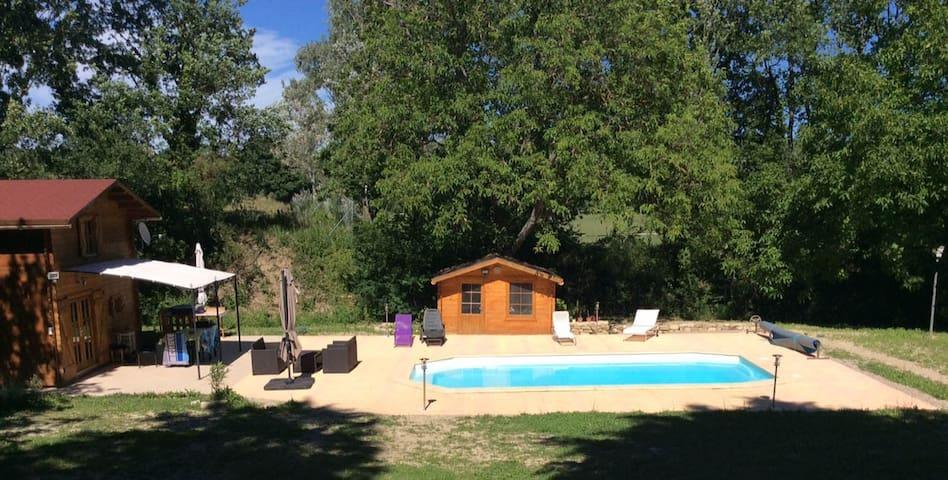 Chalet en Provence avec piscine - Beaumont-de-Pertuis - Chalet