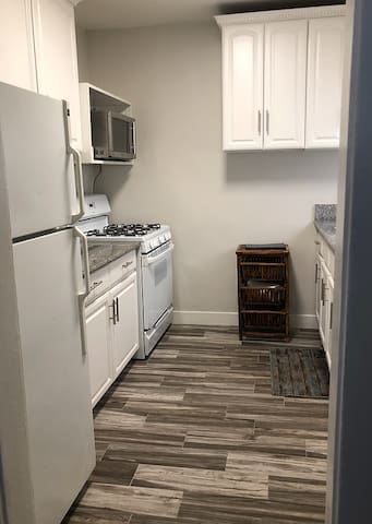 Large kitchen and cooking area