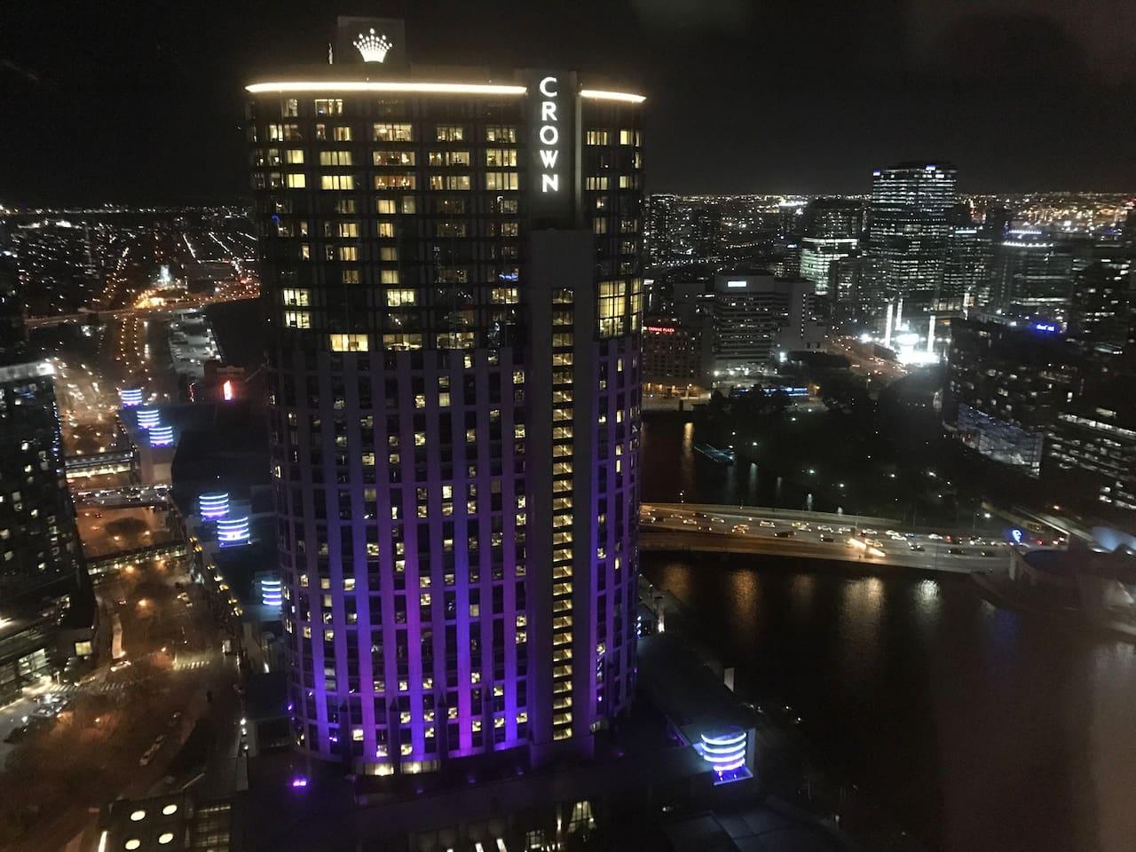Stunning night time views of Crown