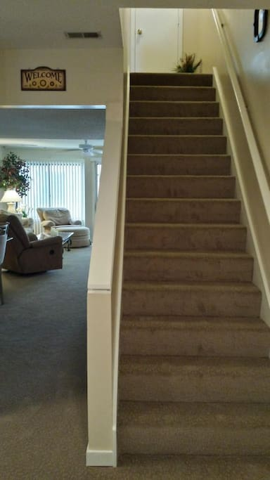 Two-story condo.  All new carpeting installed in 2015.