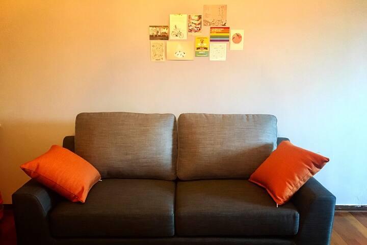 ❤︎淡水紅樹林Loft渡假公寓/電梯大樓/樓中樓/wifi/廚房/整套房源