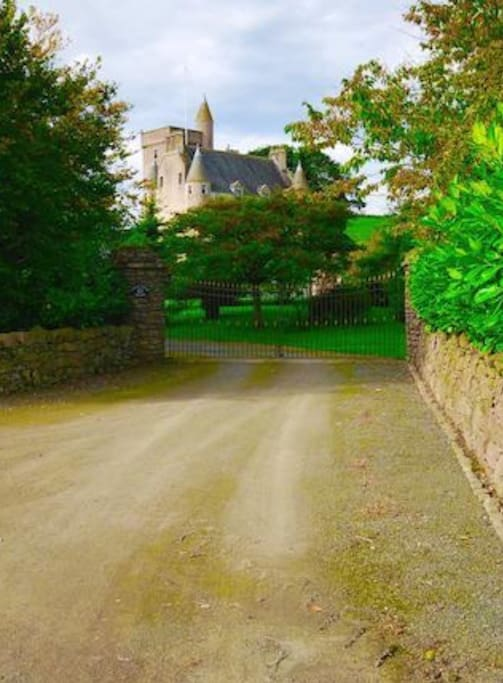 Driveway to the castle