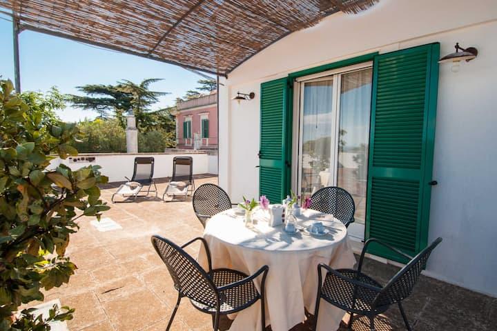 Suite Alta - Camera con ampia terrazza e piscina