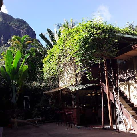 Chambre privée, mer-nature . Pareomana