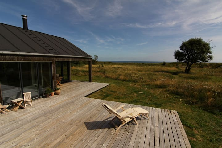 Spacious new summerhouse by the sea