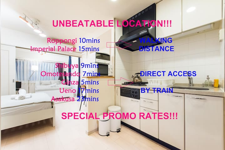 Cozy Urban Apt B @ Best Price&Place - Minato-ku - Appartement