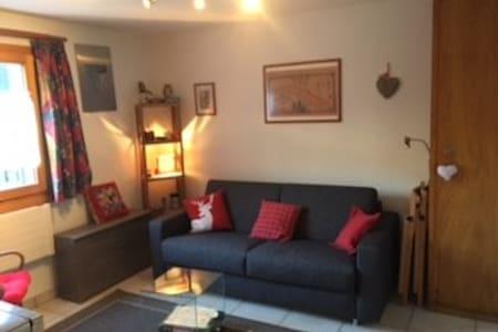 Grimentz, joli petit studio, proche télécabine - Grimentz - 酒店式公寓