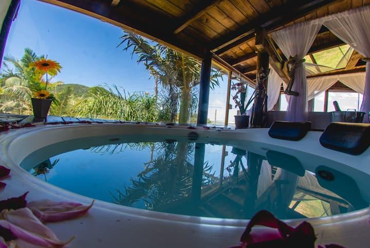 Casas-frente da lagoa de Ibiraquera (suite master)