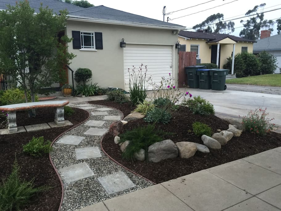New front yard as of April 12, 2016!!! Preserving water
