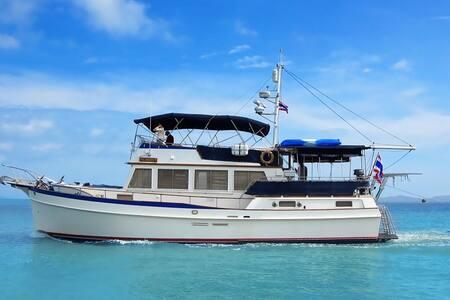 Classic 49' Yacht. Full Seaview. All Inclusive! - Phuket - Barca