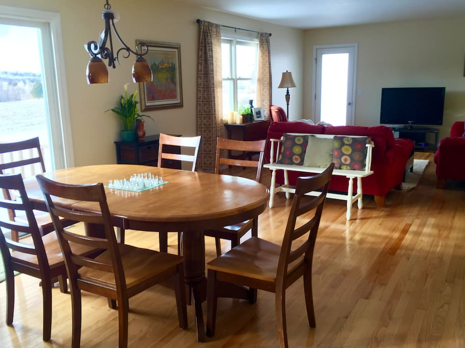 Open concept kitchen and living allows plenty of room to relax and enjoy each other's company.