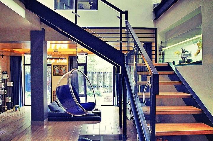 后现代别墅与大自然和谐相处,轰趴,拍摄,广告片,抖音