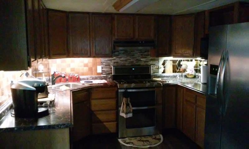 Updated kitchen, with newer stainless steel appliances. Double oven makes dinner in a snap!