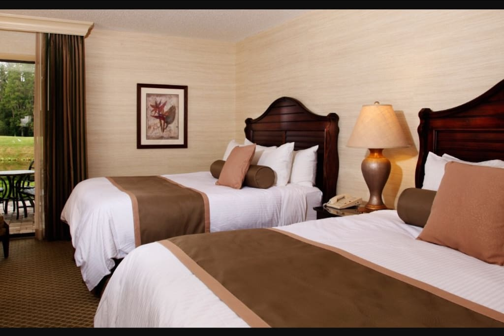Bedroom One: 1 queen bed, Bedroom Two: 2 single beds, BedRoom Three: 2 double beds