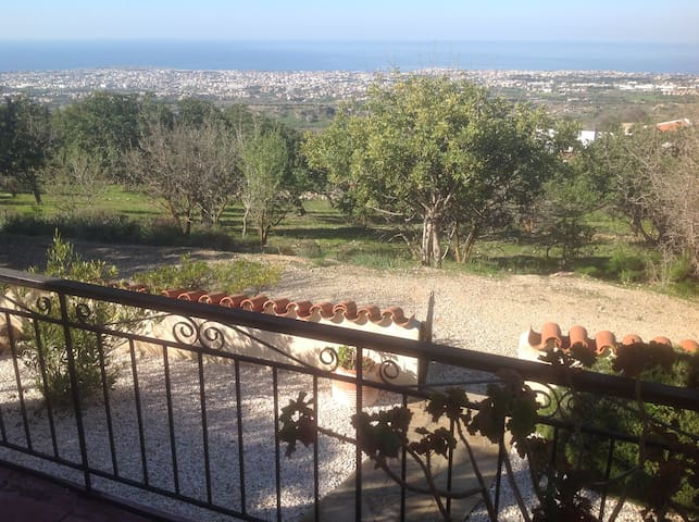 View looking over Paphos to the sea.