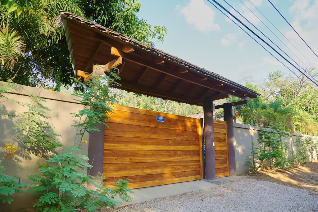 Gate provides privacy for guests