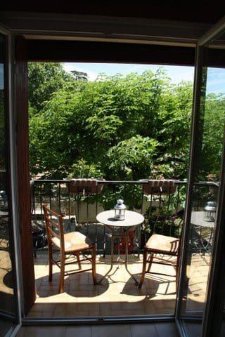 Petite terrasse avec vue sur le marronnier