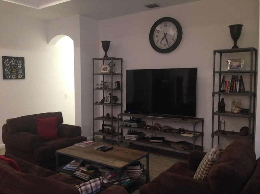"Family Room w/ 70"" Flat Screen TV"