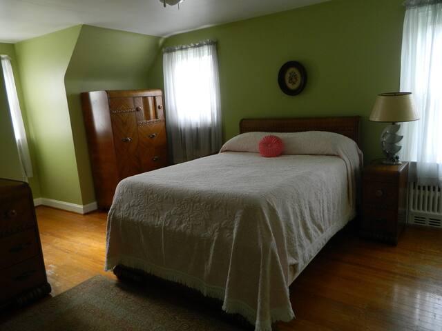 Cozy bedroom with plenty of storage
