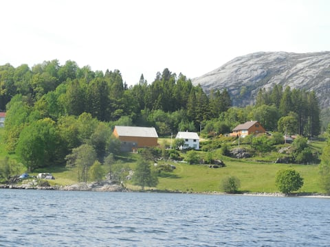 Authentic Norwegian countryside by the fjord.