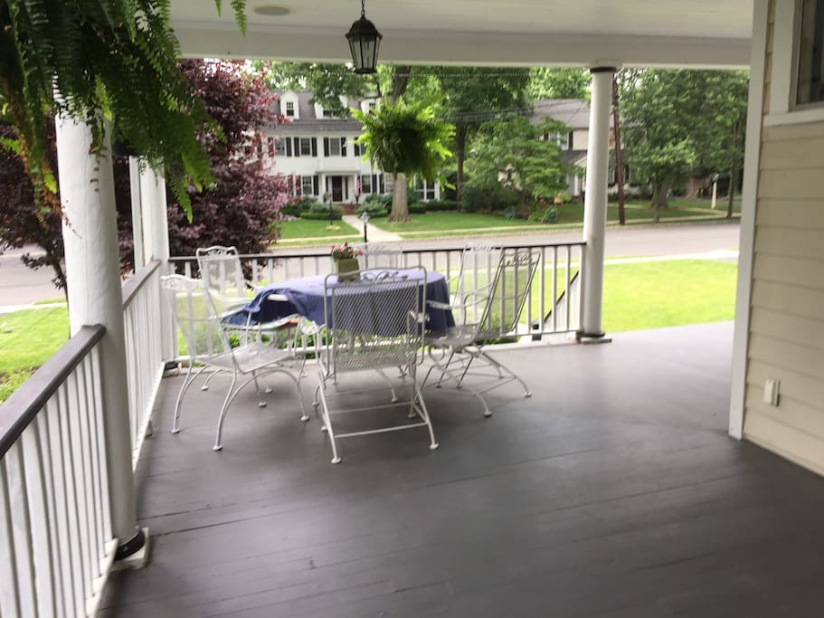 Enjoy dinner on the front porch