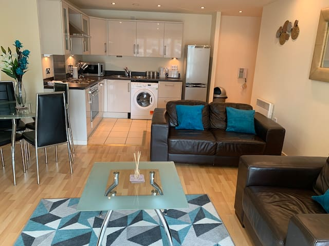 Free parking, wifi,  luxury city centre  apartment