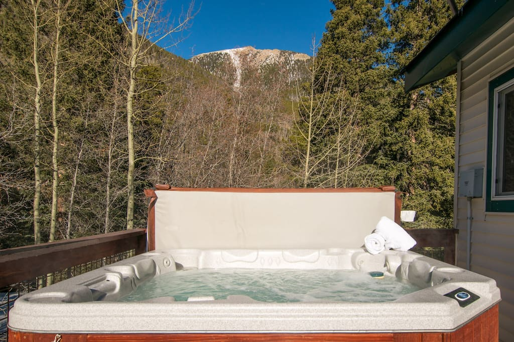 Enjoy a soak with incredible views