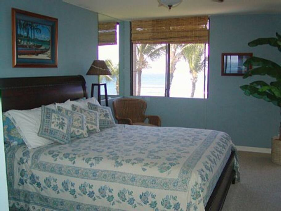 King Bed Master Suite is on the Oceanfront Side