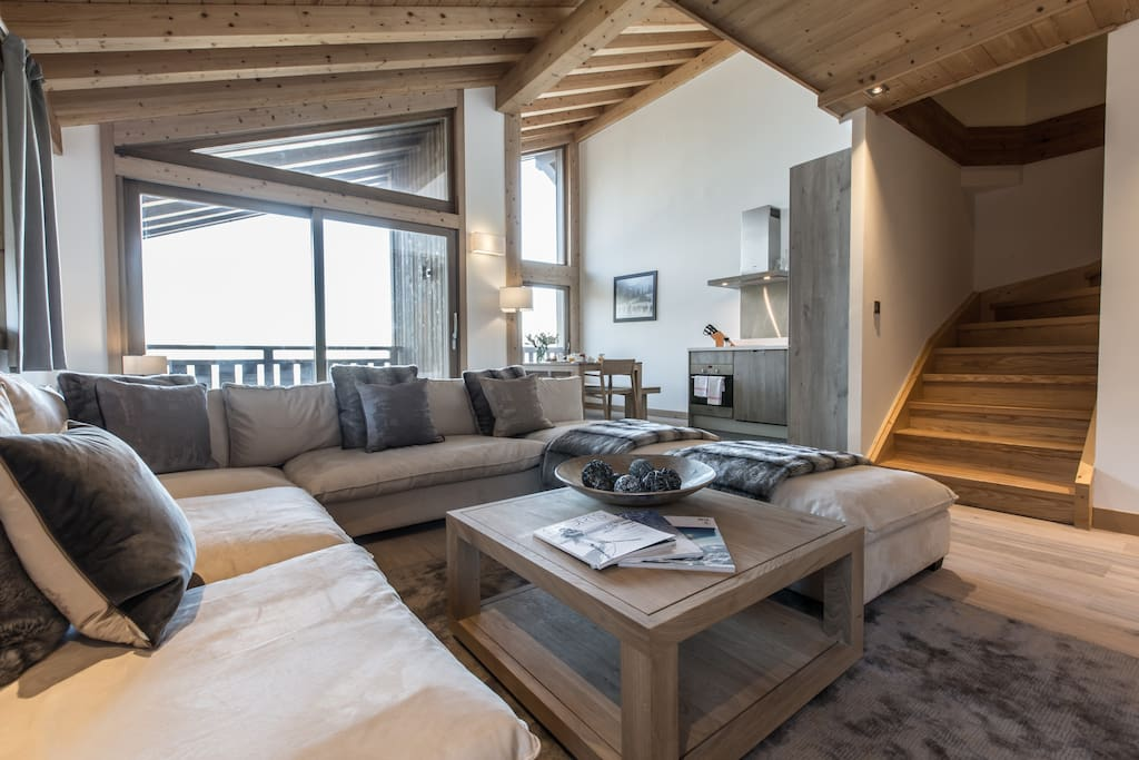 Appartement A32 - Résidence Aspen Lodge Courchevel - Séjour/ Living room