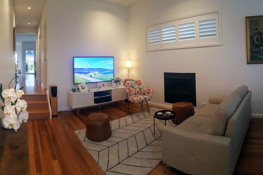 Lounge/TV Room with fireplace