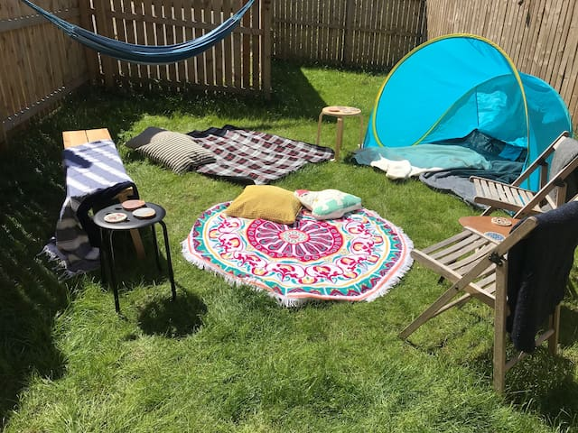 The garden can be set up for relaxation!