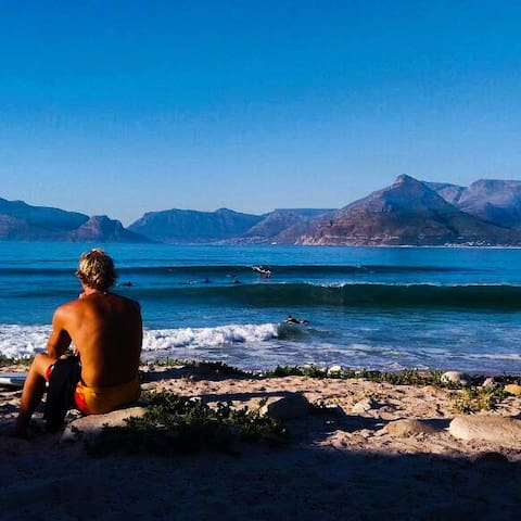 Endless summer...Long Beach in Kommetjie is a famous surfing beach. Amazing views of Chapmans Peak Drive and Table Mountain National Park.