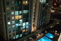Vista del condominio desde la habitación.