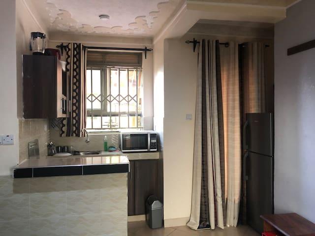 A sizeable furnished studio apartment in Namugongo