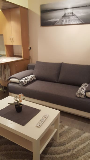 Nappali kihúzható kanapéval
