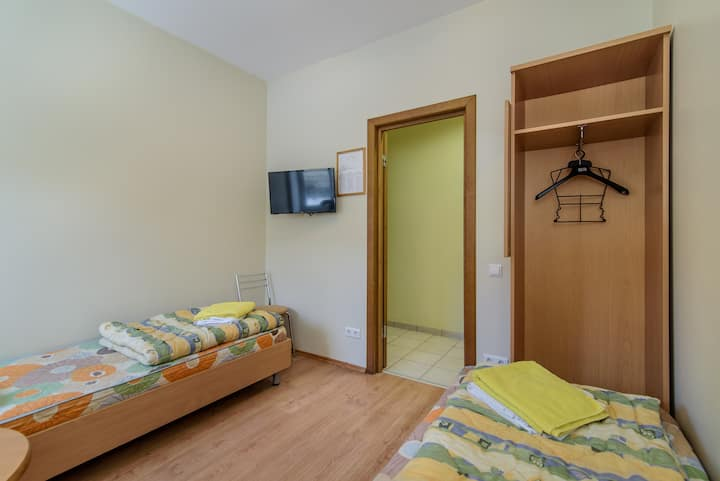 Twin room in Filaretai hostel
