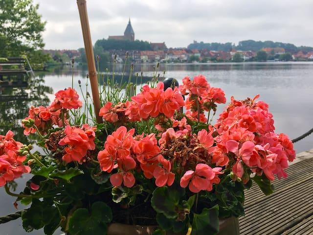 Souterrain Ferienwohnung mit Seeblick nähe Ostsee