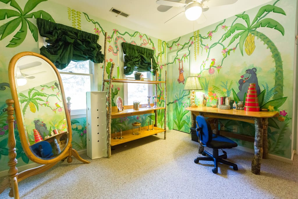 The jungle room case in affitto a wilmington north for Camera letto jungle