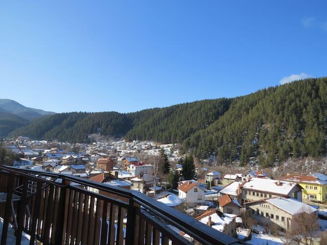 Панорамный Апартамент 301 с видом на горы Рила