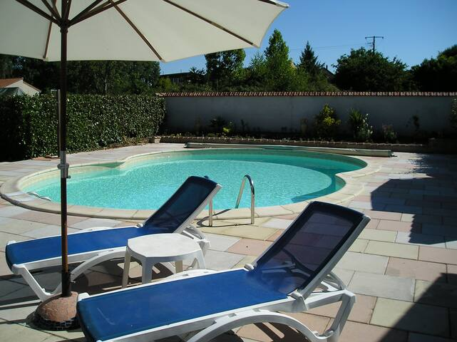 Two bedroom gite with private swimming pool.