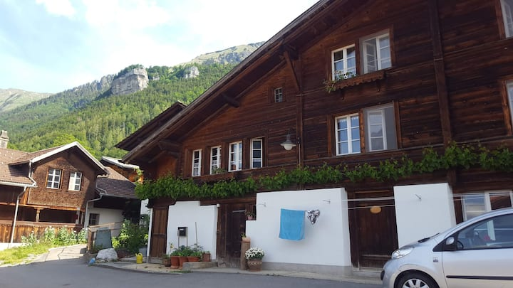 Gemütliche Wohnung in malerischer Berglandschaft.
