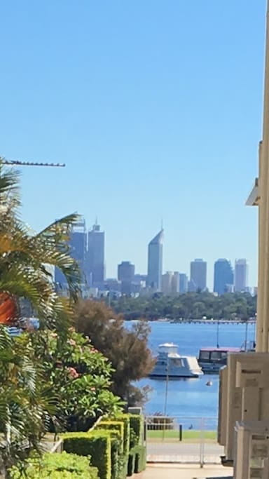 View of the city and Swan river from the kitchen