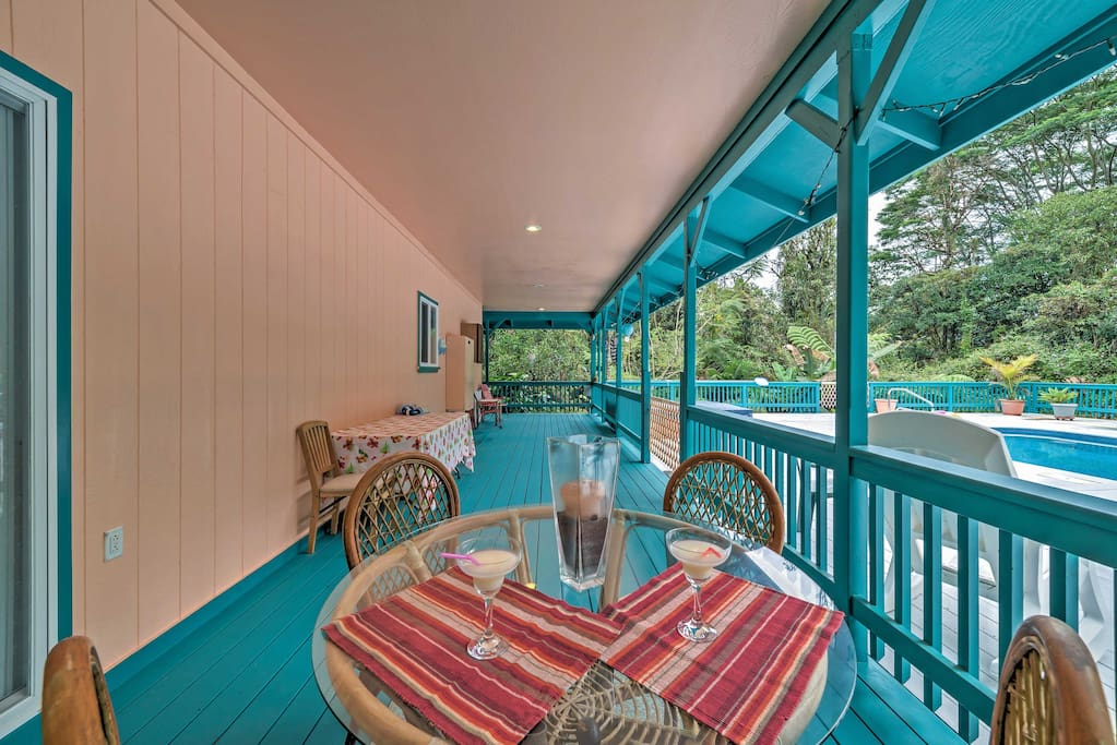 Wine and dine on the wrap-around deck.
