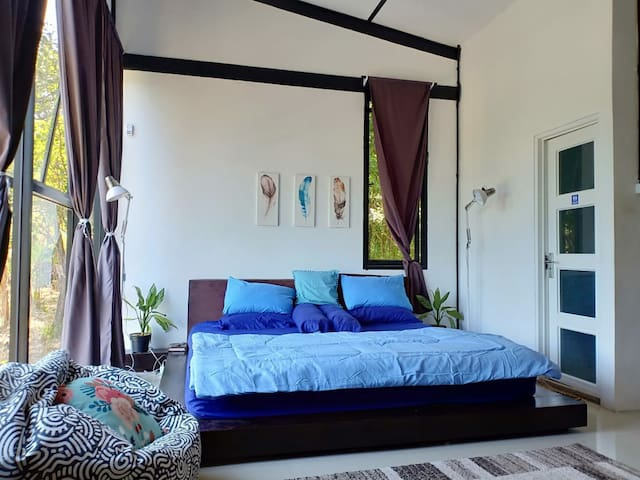 1st (master) bedroom with super king bed and bathroom