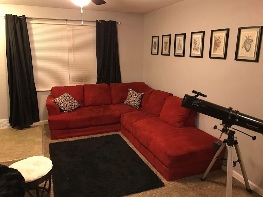 Freshly painted living room.