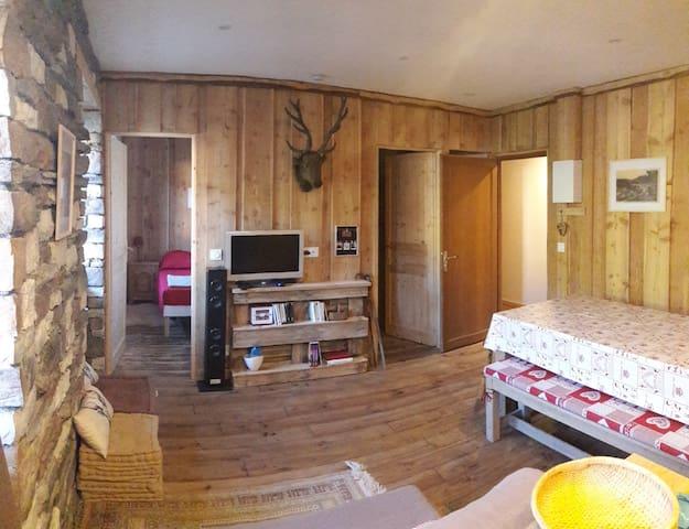 Appartement cosy dans grand chalet avec terrasse